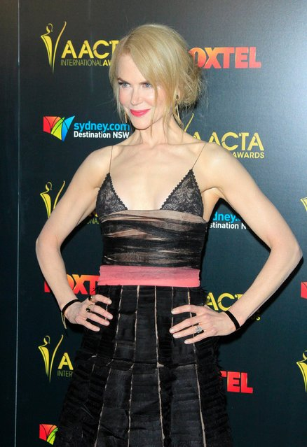 Australian actress Nicole Kidman arrives for the 6th AACTA International Awards at Avalon Hollywood in Los Angeles, California, USA, 06 January 2017. The Australian Academy of Cinema and Television Arts (AACTA) International Awards recognize film excellence regardless of geography, as determined by a jury of over 150 of Australia's most renowned filmmakers and executives. (Photo by Nina Prommer/EPA)