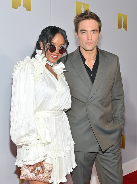 (L-R) Co-Chairs for Academy Museum of Motion Pictures Opening Party H.E.R. and Robert Pattinson attend the Academy Museum of Motion Pictures and Vanity Fair Premiere party at Academy Museum of Motion Pictures on September 29, 2021 in Los Angeles, California. (Photo by Stefanie Keenan/Getty Images for Academy Museum of Motion Pictures)