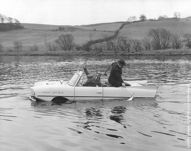 Amphicar, which can be driven on land or water