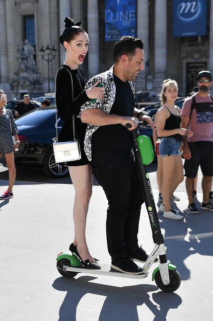 Coco Rocha is seen during Paris Fashion Week Haute Couture Fall/Winter 2019/20 on July 02, 2019 in Paris, France. (Photo by Jacopo Raule/GC Images)