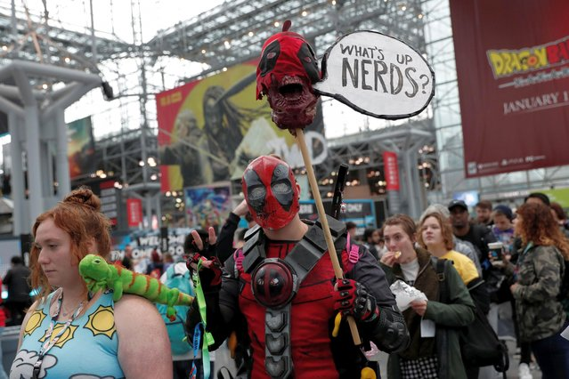 People wait in line to attend the 2019 New York Comic Con in New York City, New York, U.S., October 3, 2019. (Photo by Shannon Stapleton/Reuters)