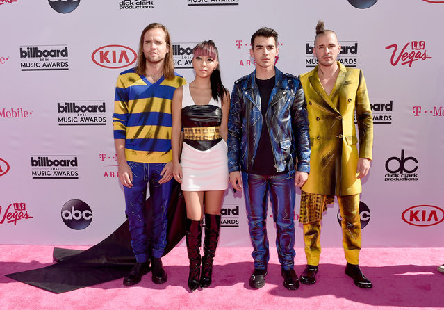 (L-R) Musicians Jack Lawless, JinJoo Lee, Joe Jonas and Cole Whittle of DNCEattends the 2016 Billboard Music Awards at T-Mobile Arena on May 22, 2016 in Las Vegas, Nevada. (Photo by David Becker/Getty Images)