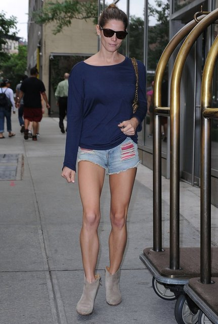 Actress Ashley Greene spotted in SoHo, on June 10, 2014. (Photo by Splash News)