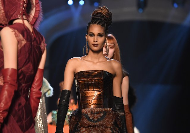 Cindy Bruna walks the runway during the Jean Paul Gaultier Haute Couture Fall/Winter 2016-2017 show as part of Paris Fashion Week on July 6, 2016 in Paris, France. (Photo by Pascal Le Segretain/Getty Images)