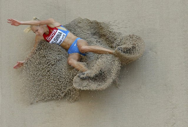 Darya Klishina of Russia competes in the women's long jump qualifying round during the 15th IAAF World Championships at the National Stadium in Beijing, China, August 27, 2015. (Photo by Kim Kyung-Hoon/Reuters)