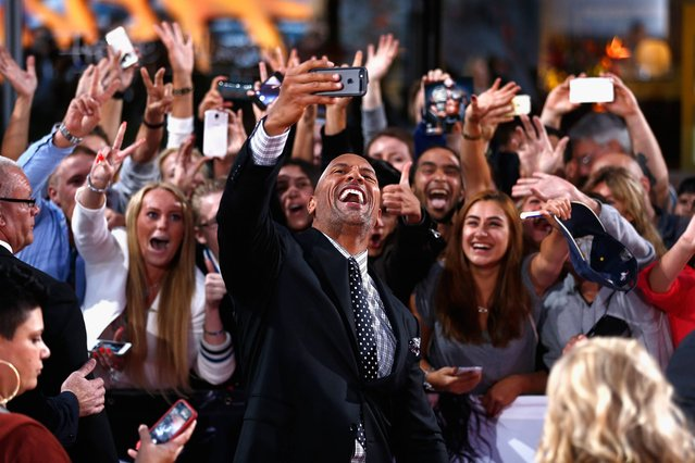 "Dwayne Johnson attends the Europe premiere of Paramount Pictures ""Hercules"" at CineStar on August 21, 2014 in Berlin, Germany. (Photo by Andreas Rentz/Getty Images for Paramount Pictures)"