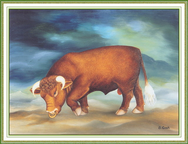 Taurus. Artwork by Beryl Cook