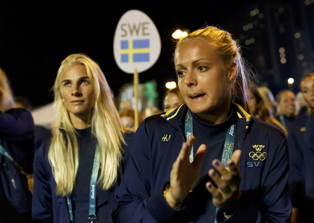 Sweden's Olympic team attend their welcoming ceremony inside the Olympic Village in Rio de Janeiro, Brazil on August 1, 2016. (Photo by Edgard Garrido/Reuters)