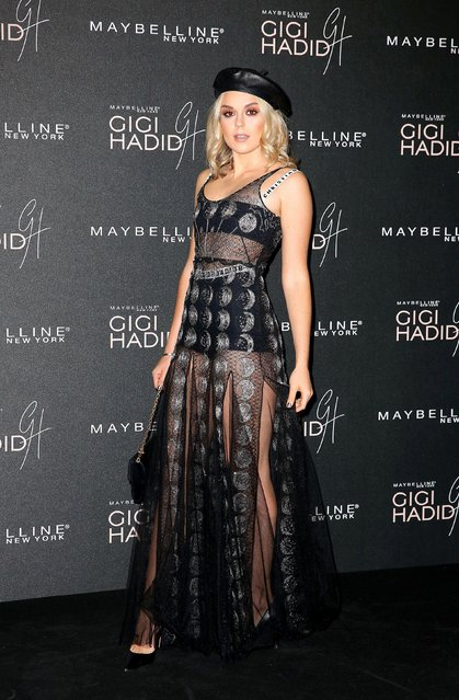 "Tallia Storm attends the Gigi Hadid X Maybelline party held at ""Hotel Gigi"" on November 7, 2017 in London, England. (Photo by PA Wire)"