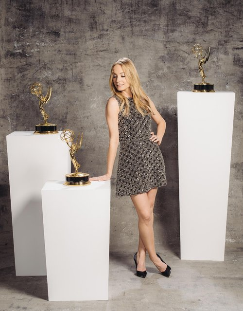 Joanne Froggatt poses for a portrait at the Television Academy's 67th Emmy Awards Performers Nominee Reception at the Pacific Design Center on Saturday, September 19, 2015 in West Hollywood, Calif. (Photo by Casey Curry/Invision for the Television Academy/AP Images)