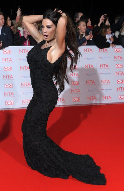 Katie Price attends the National Television Awards 2018 at the O2 Arena on January 23, 2018 in London, England. (Photo by David Fisher/Rex Features/Shutterstock)