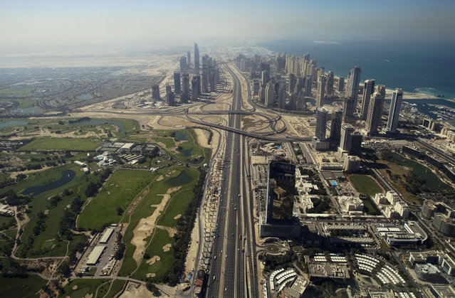 A view of the Sheikh Zayed highway in Dubai and some high rise buildings, November 8, 2007. (Photo by Steve Crisp/Reuters)