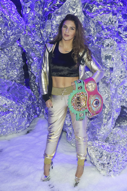 Christina Hammer attends the Philipp Plein 2018 Fall/Winter Runway Show during New York Fashion Week at The Brooklyn Navy Yard on Saturday, February 10, 2018, in New York. (Photo by Brent N. Clarke/Invision/AP Photo)