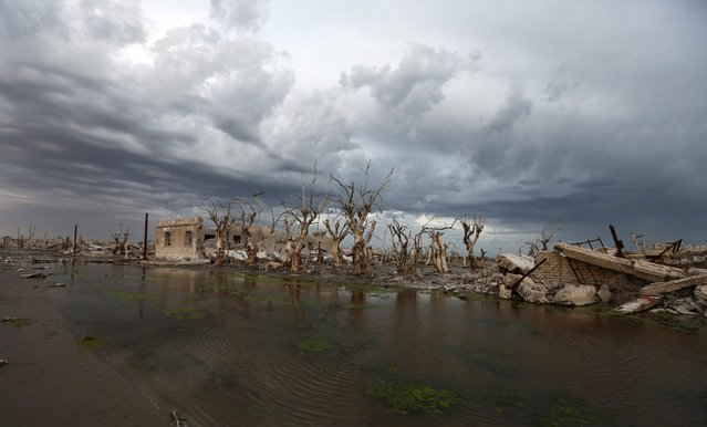 Ruined houses are pictured in the onetime spa and resort town Epecuen, November 5, 2015. (Photo by Enrique Marcarian/Reuters)