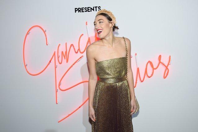"Actress Mia Moretti attends ""Ferragamo Presents: Gancio Studios, Celebrating 100 Years In Hollywood"" at Gancio Studios on December 8, 2015 in New York City. (Photo by Nicholas Hunt/Getty Images)"