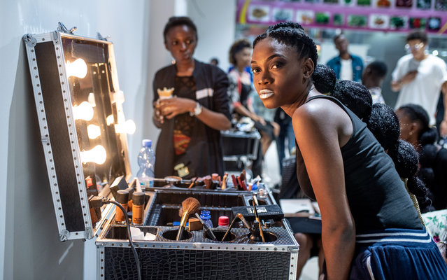 """Model Norha Ngandu Kazadi says: """"Fashion for me is a way in which I can express everything – joy, sadness, shock, pain. It is my passion above everything else"""". (Photo by Olivia Acland/The Guardian)"""