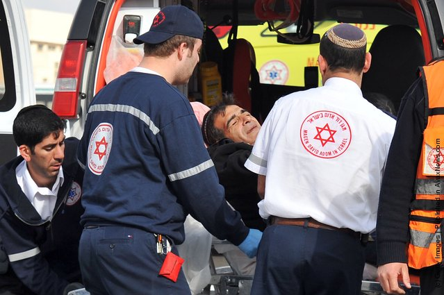 Bomb Explodes At Jerusalem Bus Stop