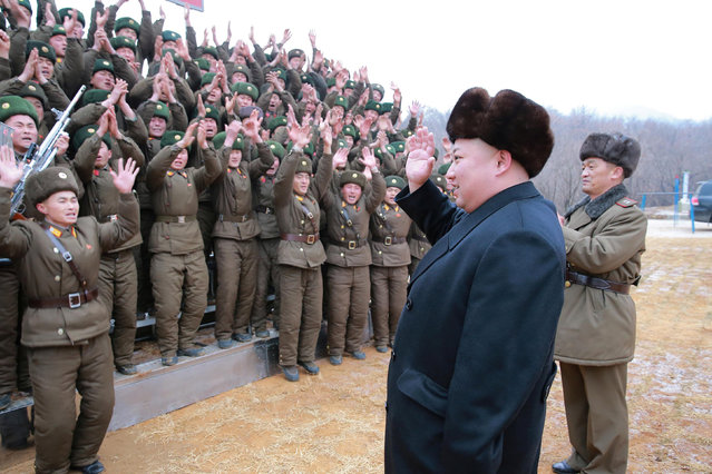 North Korean leader Kim Jong Un inspects a sub-unit under KPA Unit 233, in this undated photo released by North Korea's Korean Central News Agency (KCNA) in Pyongyang January 19, 2017. (Photo by Reuters/KCNA)