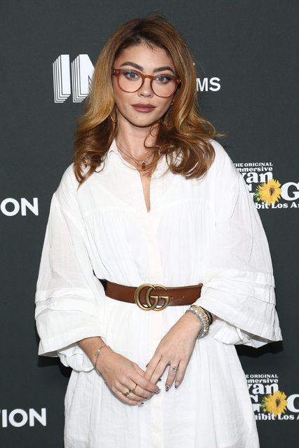 American actress and singer Sarah Hyland attends An Intimate Evening with Deepak Chopra at Immersive Van Gogh Los Angeles on September 29, 2021 in Los Angeles, California. (Photo by Tommaso Boddi/Getty Images for Immersive Van Gogh Exhibit Los Angeles)