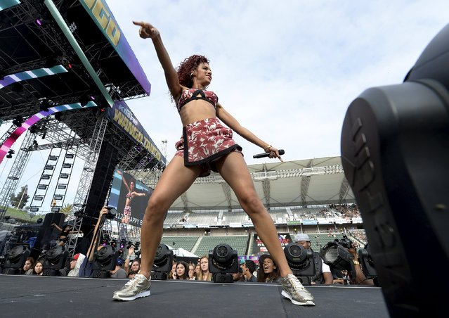 Natalie La Rose performs during 2015 Wango Tango concert at the StubHub Center in Carson, California May 9, 2015. (Photo by Kevork Djansezian/Reuters)