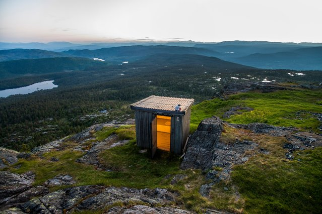 This restroom on the rubbly flanks of Jonsknuten in Norway looks up at the peak of the 904m mountain. Yu have to leave the door open to enjoy the view but the chances of being disturbed are minimal. (Photo by Olaf Menz/Lonely Planet)