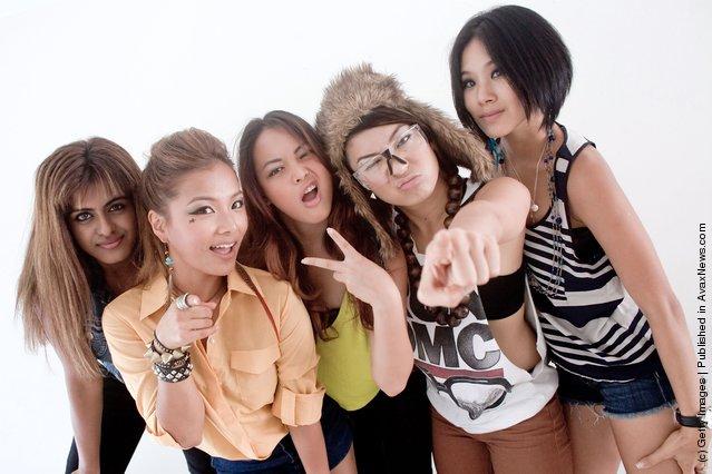 Blush members (L-R) Alisha Budhrani, Ji Hae Lee, Angeli Flores, Natsuko Danjo and Victoria Chan