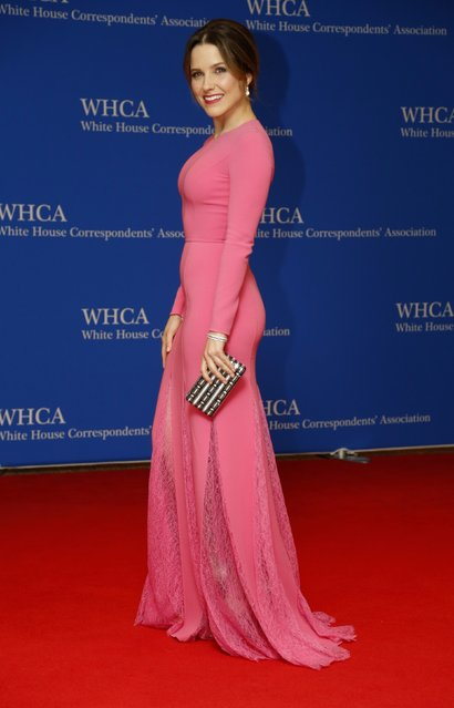 Actress Sophia Bush arrives on the red carpet for the annual White House Correspondents Association Dinner in Washington, U.S., April 30, 2016. (Photo by Jonathan Ernst/Reuters)