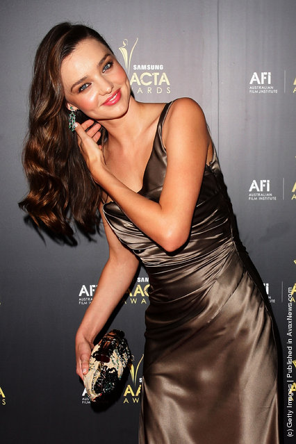 Miranda Kerr arrives at the 2012 AACTA awards at the Sydney Opera House