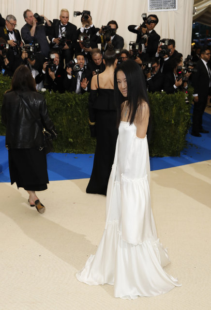 """Designer Vera Wang attends """"Rei Kawakubo/Comme des Garcons: Art Of The In-Between"""" Costume Institute Gala – Arrivals at Metropolitan Museum of Art on May 1, 2017 in New York City. (Photo by Lucas Jackson/Reuters)"""