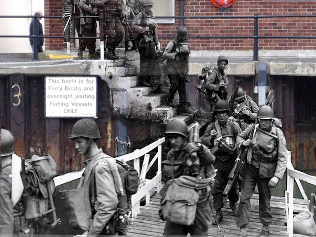 Rangers loading for D-Day at Weymouth Harbour, Dorset, June 1944 – 2013. (Photo by Adam Surrey)