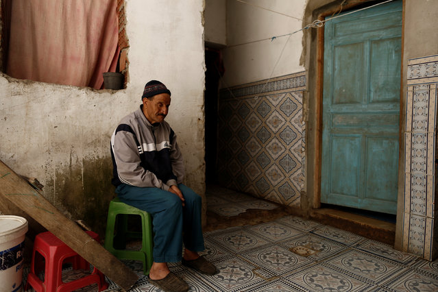 Mohamed Slimi, whose son Tarak Slimi is suspected to have joined Islamic State in Libya, sits at his house in El Kef, Tunisia April 14, 2016. (Photo by Zohra Bensemra/Reuters)