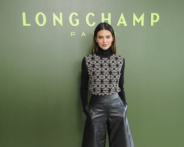 Kendall Jenner attends NYFW Fall/Winter 2020 – Longchamp at Hudson Commons on Saturday, February 8, 2020, in New York. (Photo by Christopher Smith/Invision/AP Photo)