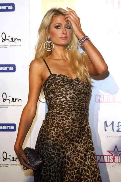 BARCELONA, SPAIN - NOVEMBER 03:  Paris Hilton attends the 'Carpe Diem Lounge Club' party on November 3, 2011 in Barcelona, Spain.  (Photo by Miquel Benitez)