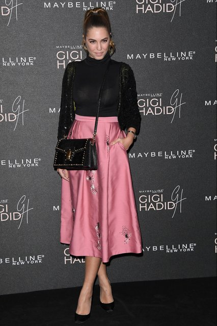 "Amber Le Bon attends the Gigi Hadid X Maybelline party held at ""Hotel Gigi"" on November 7, 2017 in London, England. (Photo by Stuart C. Wilson/Getty Images)"