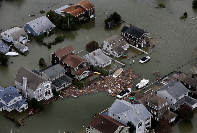 Homes in Seaside, N.J. are flooded in the aftermath of superstorm Sandy. (Photo by Tim Larsen/New Jersey Governor's Office)