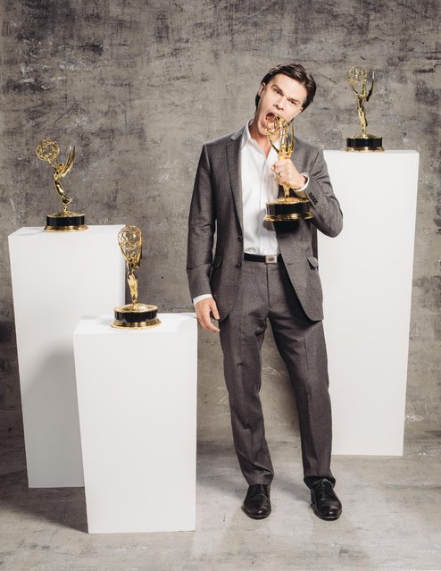 Finn Wittrock poses for a portrait at the Television Academy's 67th Emmy Awards Performers Nominee Reception at the Pacific Design Center on Saturday, September 19, 2015 in West Hollywood, Calif. (Photo by Casey Curry/Invision for the Television Academy/AP Images)