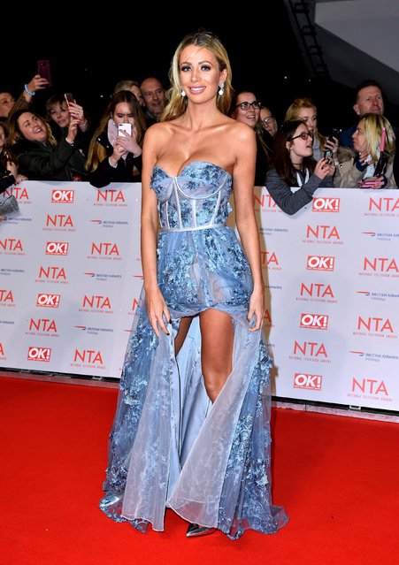 Olivia Attwood attends the National Television Awards 2018 at the O2 Arena on January 23, 2018 in London, England. (Photo by PA Wire)