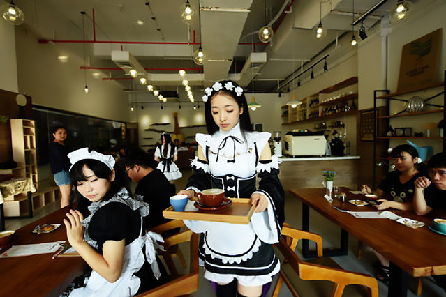The maid-themed cafe in Hangzhou, China on September 29, 2016. (Photo by AsiaWire)