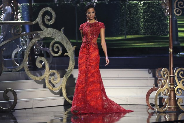 Miss Jamaica Kaci Fennell onstage during The 63rd Annual Miss Universe Pageant at Florida International University on January 25, 2015 in Miami, Florida. (Photo by Alexander Tamargo/Getty Images)