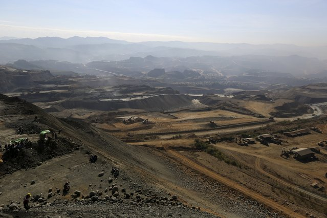 Landscape of a  jade mine dump at a Hpakant jade mine in Kachin state, Myanmar November 25, 2015. Using heavy earth-excavators and explosives, miners have been tearing into Myanmar's northern hills in recent months, in a rush to excavate more jade from the world's richest deposits of the gemstone before a new government takes office next year. (Photo by Soe Zeya Tun/Reuters)