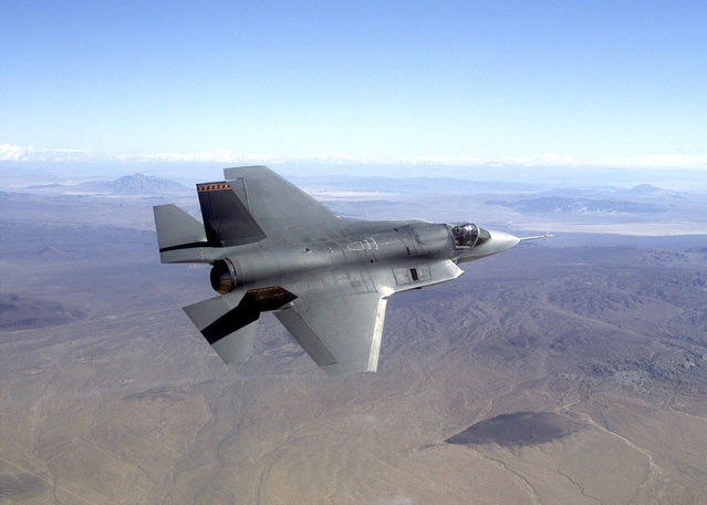 This undated file photo provided by Northrop Grumman Corp., shows a pre-production model of a F-35 Joint Strike Fighter. Israel's defense ministry said Sunday, February 22, 2015, that it will purchase 14 next-generation F-35 fighter jets for approximately $3 billion adding to the fleet of 19 U.S-made jets it already purchased in 2010. Israel plans for the stealth jet to replace its fleet of F-16 warplanes and maintain its aerial dominance in the region. (Photo by Northrop Grumman/AP Photo)