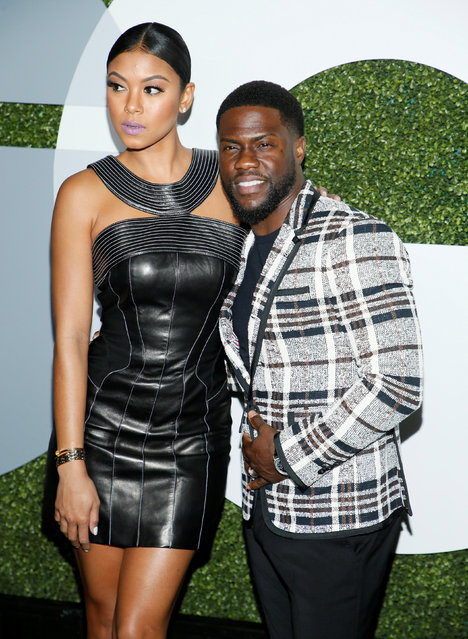 Actor Kevin Hart (R) and wife Eniko Parrish pose at the GQ Men of the Year Party in West Hollywood, California, December 8, 2016. (Photo by Danny Moloshok/Reuters)