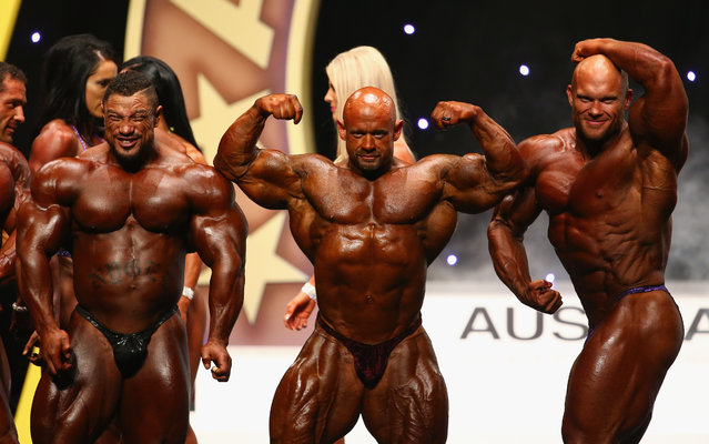 Competitors are introduced on stage during the Arnold Classic Australia at The Melbourne Convention and Exhibition Centre on March 14, 2015 in Melbourne, Australia. (Photo by Robert Cianflone/Getty Images)