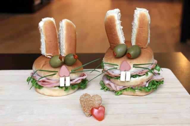 """Kasia Haupt's sandwich monsters: Love Bunnies"". (Photo by Kasia Haupt/Caters News)"