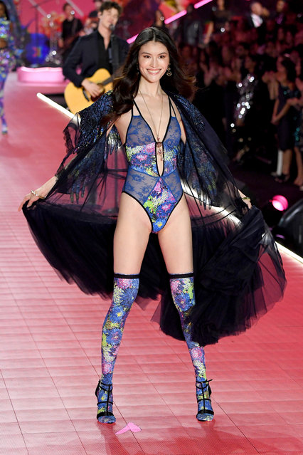 Sui He walks the runway during the 2018 Victoria's Secret Fashion Show at Pier 94 on November 8, 2018 in New York City. (Photo by Kevin Mazur/WireImage)