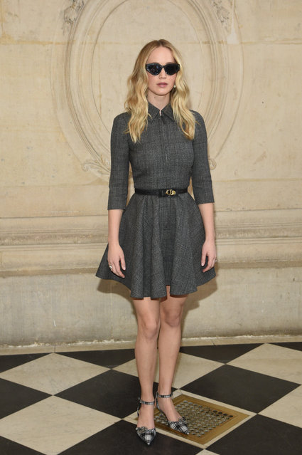 Actress Jennifer Lawrence attends the Christian Dior show as part of the Paris Fashion Week Womenswear Fall/Winter 2019/2020 on February 26, 2019 in Paris, France. (Photo by Stephane Cardinale – Corbis/Corbis via Getty Images)