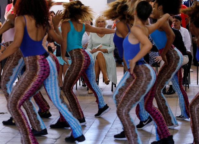 Britain's Camilla, Duchess of Cornwall watches a performance during a salsa school visit in Havana, Cuba March 26, 2019. (Photo by Phil Noble/Reuters)
