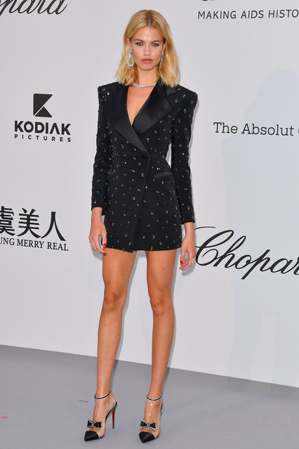 Hailey Clauson attends the amfAR Cannes Gala 2019 at Hotel du Cap-Eden-Roc on May 23, 2019 in Cap d'Antibes, France. (Photo by George Pimentel/WireImage)