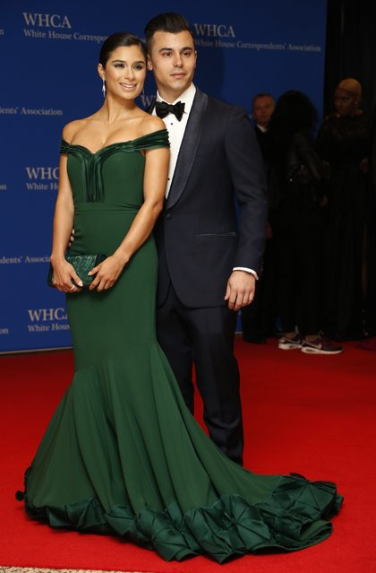Actress Diane Guerrero and guest arrive on the red carpet for the annual White House Correspondents Association Dinner in Washington, U.S., April 30, 2016. (Photo by Jonathan Ernst/Reuters)