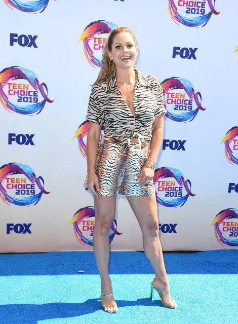 Candace Cameron-Bure attends FOX's Teen Choice Awards 2019 on August 11, 2019 in Hermosa Beach, California. (Photo by Jon Kopaloff/FilmMagic)
